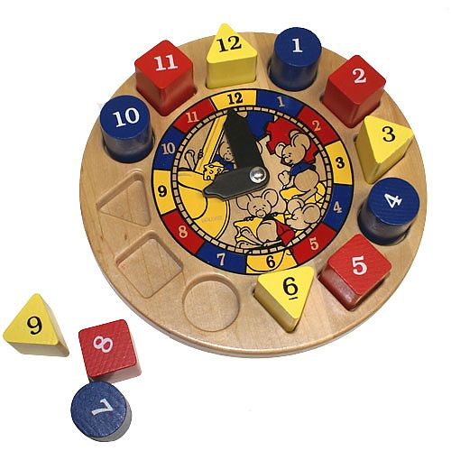 Holgate HZ901 Hickory Dickory Wooden Clock Toy