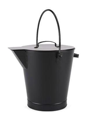 Minuteman ASH-01 All Black Ash Bucket - Powder Coated Black