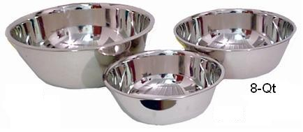 8-Quart Extra Heavy Stainless Steel Mixing Bowl