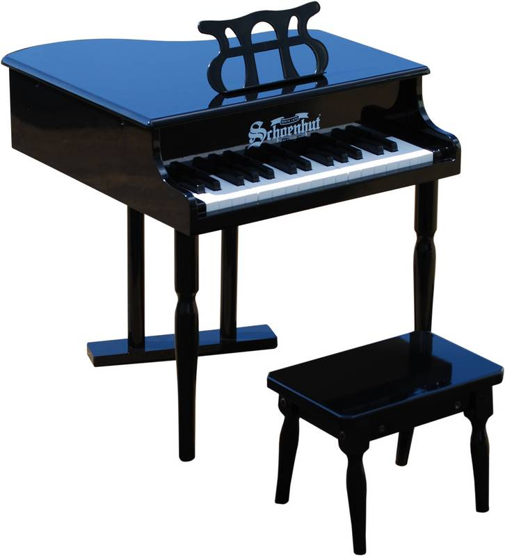 Schoenhut 309GB 30 Key Classic Baby Grand - Black