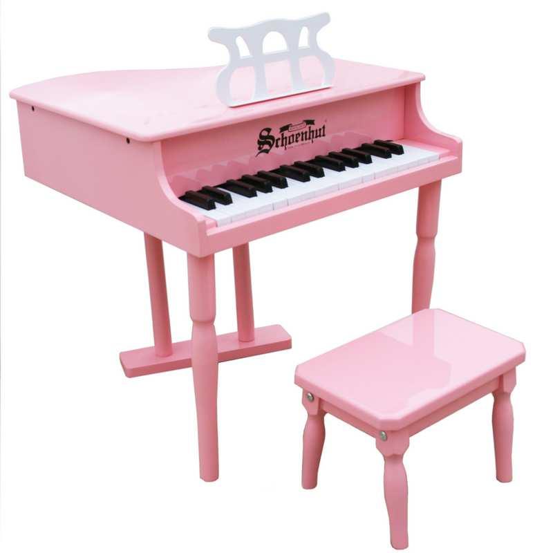 Schoenhut 309GP 30 Key Classic Baby Grand - Pink
