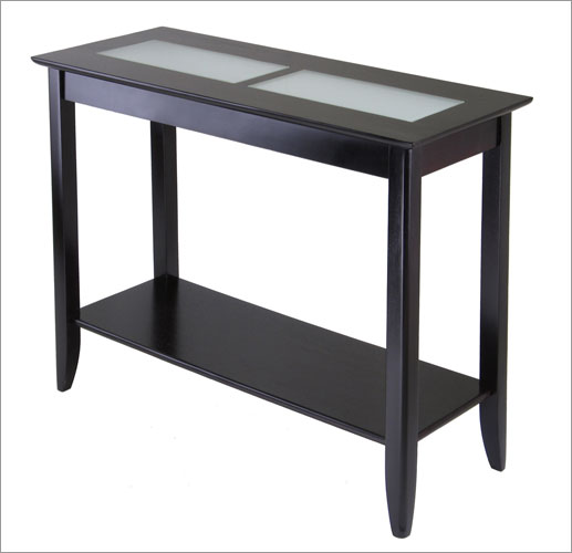 Winsome 92240 Syrah Console or Hall Table with Frosted Glass - Espresso