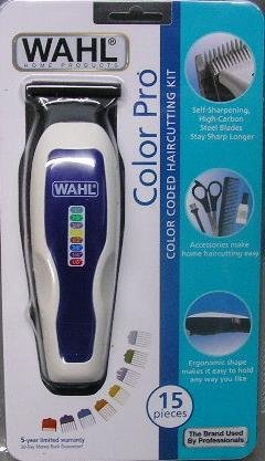 Wahl 9155-100 Color Pro 15 Pieces Color Coded Haircutting Kit