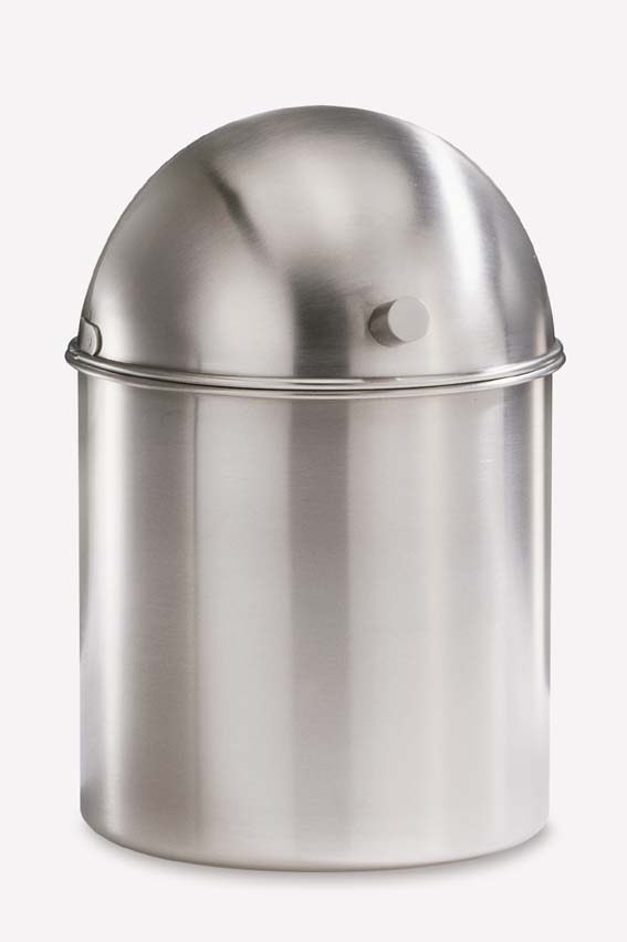 Zack 21174 ARCO table-top bin h. 7.49 inch Stainless Steel