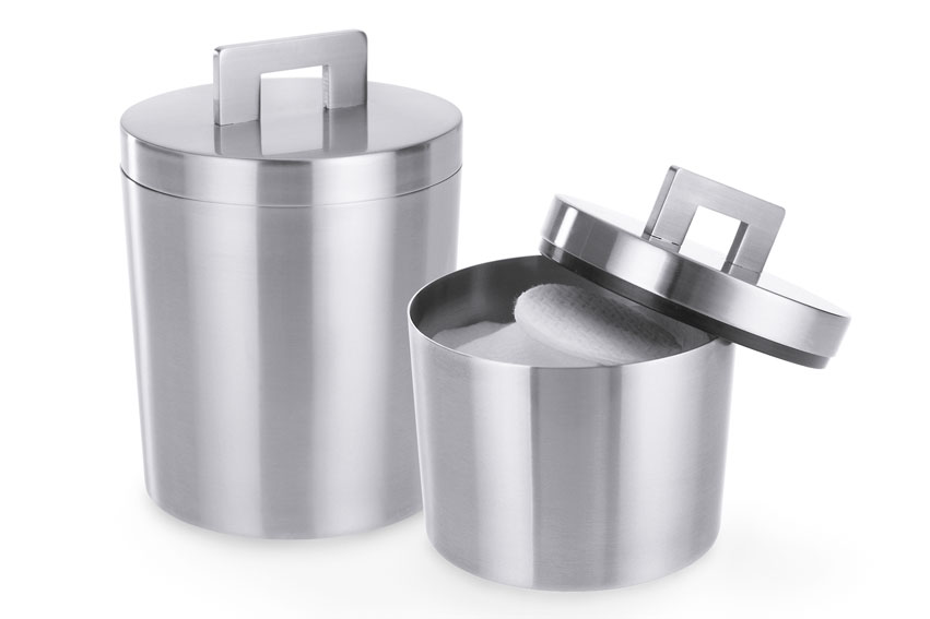 Zack 22448 SCORTA canister H. 3.74 inch Stainless Steel