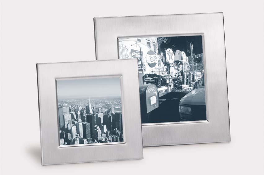 Zack 22740 RISO photo frame for 3.55x3.55 inch Stainless Steel