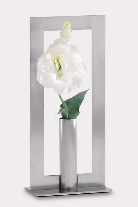 Zack 22979 ADAGIO single vase h. 8.67 inch Stainless Steel