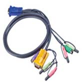 Aten Corp 2L5302P 6  PS2/KVM Cable for CS1758