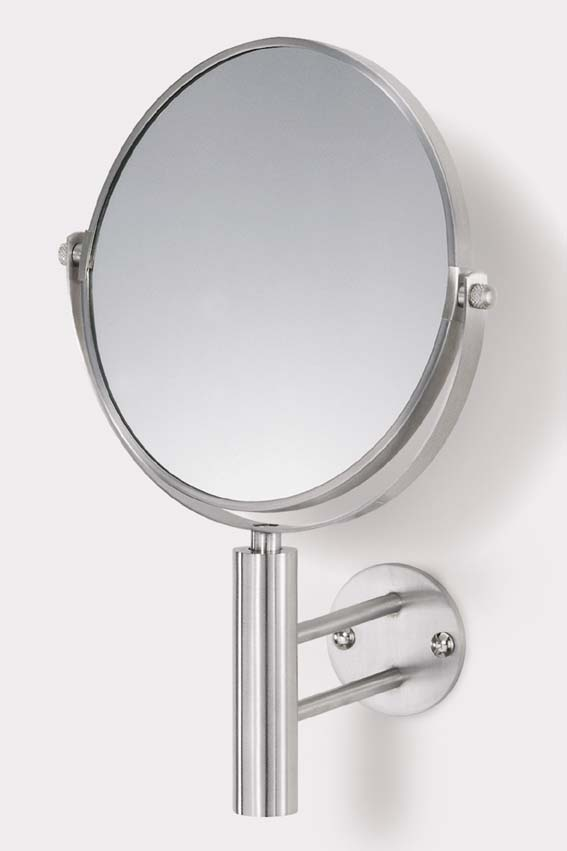 Zack 40115 FELICE wall mirror total h.11.43 inch Stainless Steel