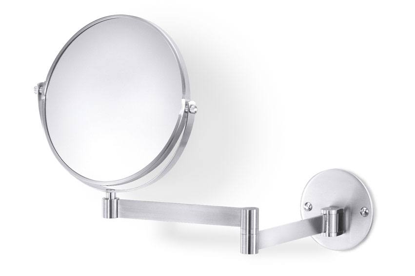 Zack 40116 FELICE wall mirror expand. max. 13.40 7.09 inch Stainless Steel