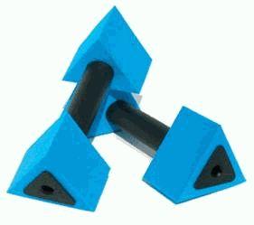 Image of Aqua Jogger AP130 ActiveBells Triangular Blue AquaJogger