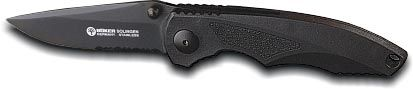 Boker Knife 110090B Law Enforcement Model With Kraton Iset And Non Stick-Coated Blade Folding Knife