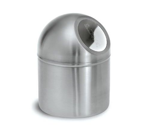 Blomus 66654 Stainless steel pushboy small trashcan