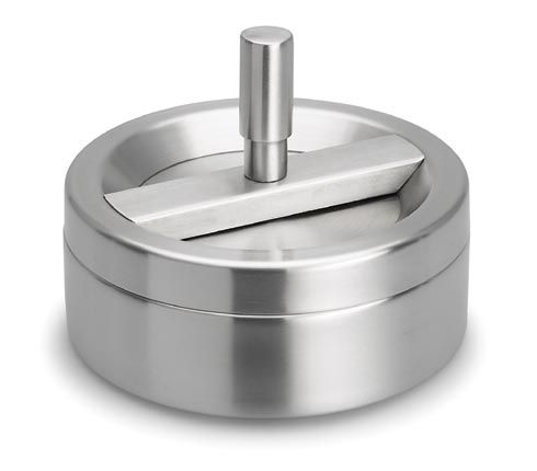 Stainless steel spin ashtray