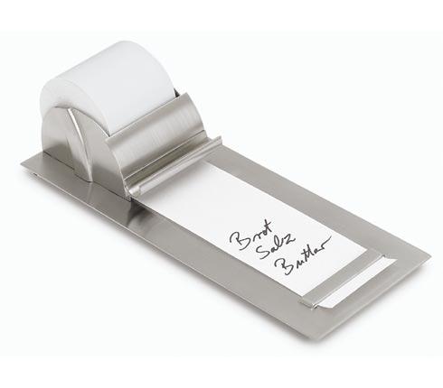 Blomus 68435 stainless steel notepaper dispenser