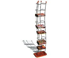 Atlantic Wave Innovative Modern-Style Steel DVD Storage Tower 1386