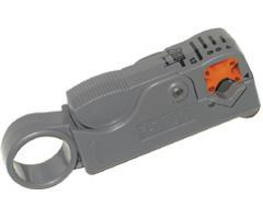Steren Coax Cable 2-Blade Stripper for RG58/59/62/6/6 Quad 204-205