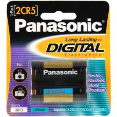 Panasonic 2CR5 Photo Lithium Battery 2CR-5MPA/1B