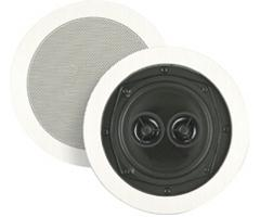 BIC America 5 Inch Dual Voice Coils In-Ceiling Speaker with Dual Tweeters M-SR5D