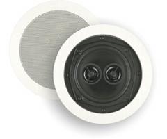 BIC America 6 1/2 Inch 150-Watt 2-Way Dual Voice Coils In-Ceiling Speaker with Dual Tweeters M-SR6D