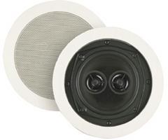 Image of BIC America 8 Inch 200-Watt 2-Way Dual Voice Coil In-Ceiling Speaker with Dual Tweeters M-SR8D