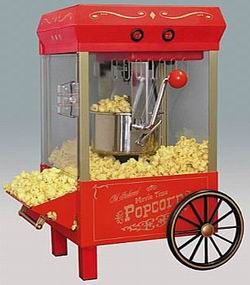 Nostalgia KPM508 Old Fashioned Kettle Corn Popper - Red