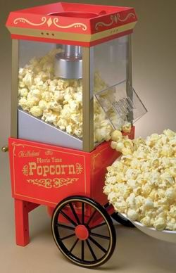 Nostalgia OFP501 Old Fashioned Popcorn Popper - Red