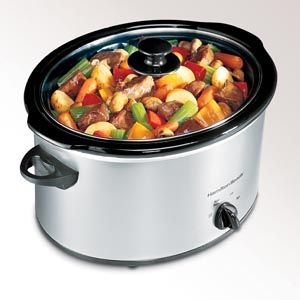 Hamilton Beach Classic Chrome 5 Quart Slow Cooker - 33550