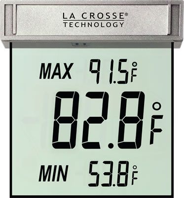 La Crosse Technology WS-1025 Digital Window Thermometer (LA201) photo