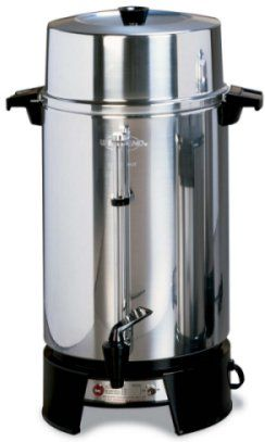 West Bend 100-Cup Polished Coffee Maker Urn - 33600 LEWE901