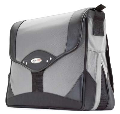 Mobile Edge MEMP02 Prem Messenger Bag Silver/Blac