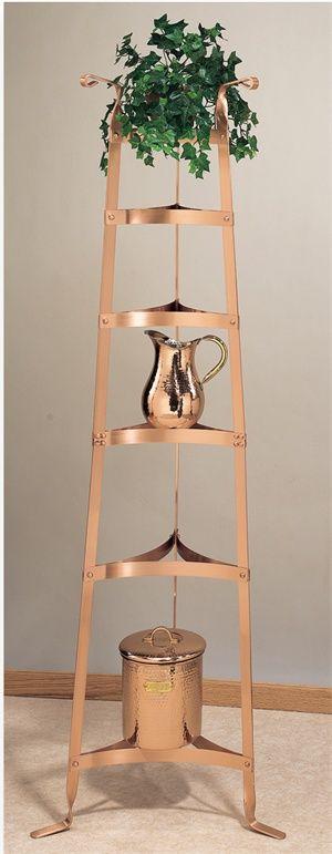 Old Dutch 60.5 Six Shelf Decor Copper Cookware Stand - 106CP