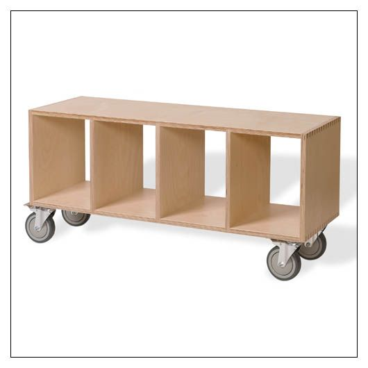 Offi Bench Box With Casters No Upholstery - VBB2044C-FIN