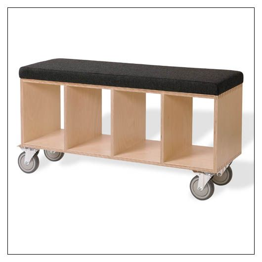 Offi Bench Box With Casters - VBB2044C-GRY