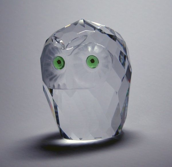 Crystal Florida Owl Head Small 1.75 Inch - 19122