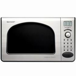 Compact Appliances - Sharp Compact Toaster And Microwave Oven In Black Stainless - R55TS