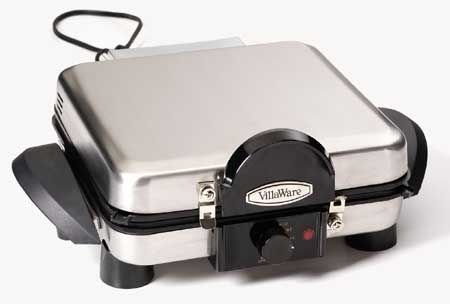 Waffle Makers - Villaware Multi-Baker Belgian Waffle Raised Rib Grill And Flat Griddle - V6150