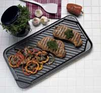click for Full Info on this CHEFS DESIGN Non Stick Double Burner Reversible Grill Griddle   3560