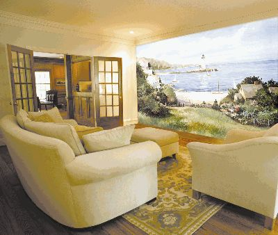 Environmental Graphics C823 Wall Mural Lighthouse Cove