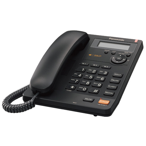 Panasonic KX-TS600B Black Intergrated Corded Phone System with Speaker phone and Caller ID