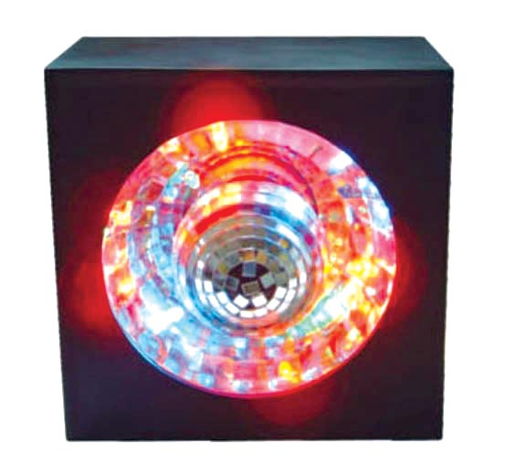 Creative Motion 10848-0 New Square Rotating Mirror Ball Light With LED