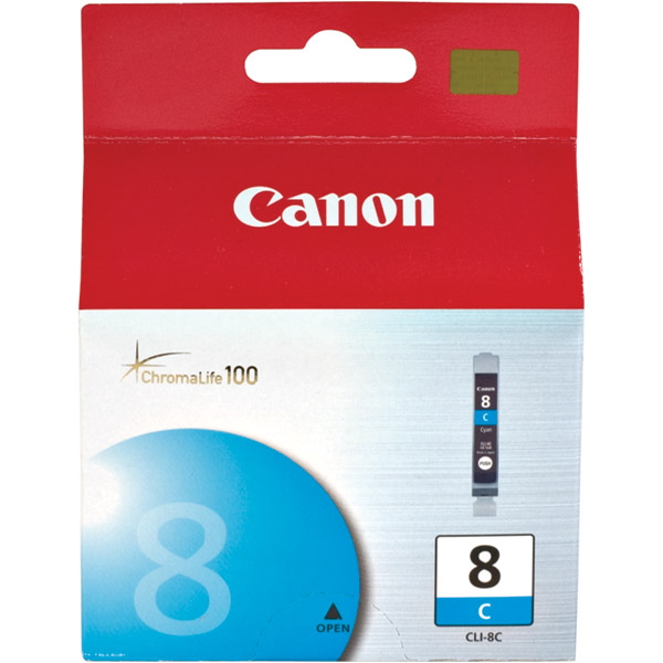 Canon ChromaLife 100 Dye Ink Cartridge for Canon Photo Printers  Cyan CLI-8C