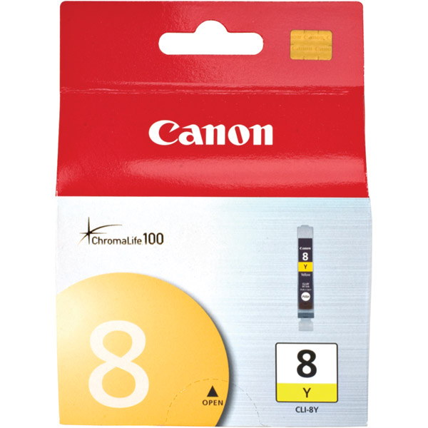 Canon ChromaLife 100 Dye Ink Cartridge for Canon Photo Printers  Yellow CLI-8Y