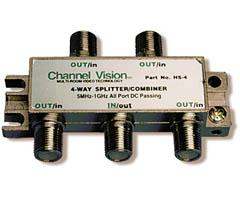 Channel Vision 4-Way PCB Based Splitter/Combiner HS-4