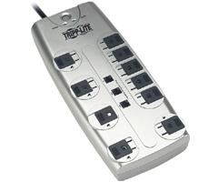 Tripp Lite 10-Outlet Surge Suppressor with Telephone Protection TLP-1008TEL