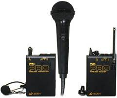 Azden Lavaliere System with Hand-Held Microphone WMS-PRO