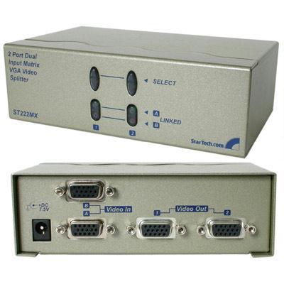 Startech 2 Port Dual Input VGA Splitter ST222MX