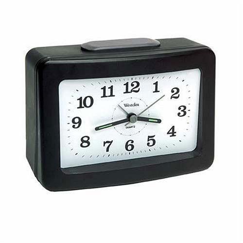 Westclox 47550 Bell Ringer Quartz Bedside Alarm Clock