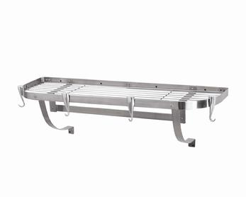 Concept Housewares PR-40903 Large Wall Mounted Rack Stainless Steel 39 x 13 Pot Rack