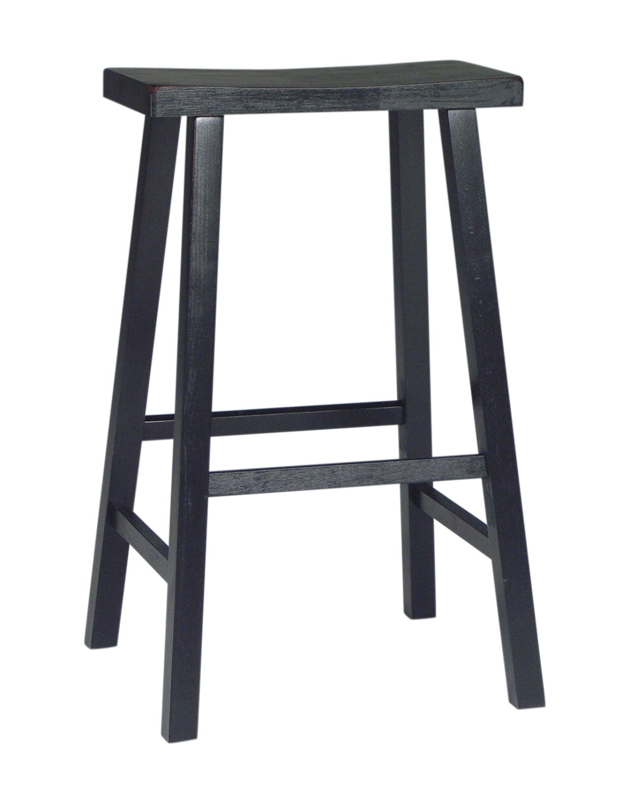 International Concepts 1S37-683 BLACK SADDLE SEAT BARSTOOL - 29 Inch